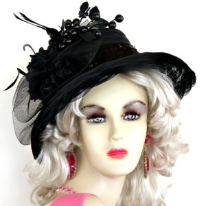 Ladies Black Kentucky Derby Dress Hat Special Occasion Women s Hats ... 0a9f08bf0c4