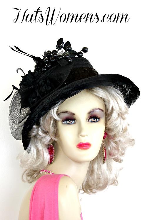 Ladies Black Kentucky Derby Dress Hat Special Occasion Women S Hats