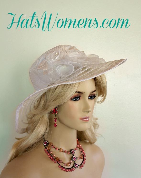 White Designer Wide Brim Bridal Wedding Fashion Hat Women S Hats