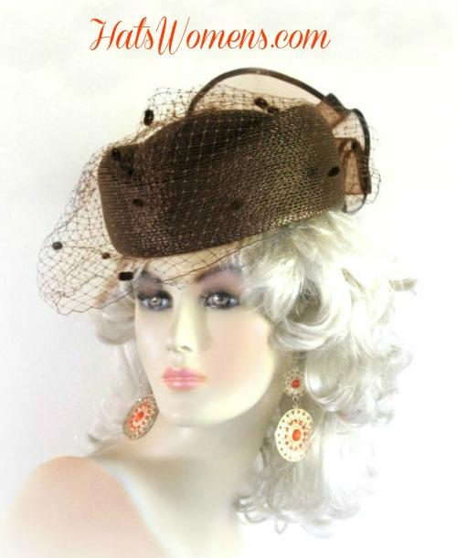 89d368d729c45 Brown Beige Ivory Navy Royal Blue Grey Lavender Pillbox Hat Hats 6B8 ...