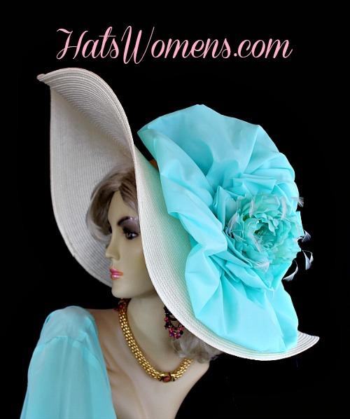 Turquoise Dress Ladies Wedding Hats