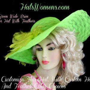 b8bcb8b5746 Ladies White Wide Brim Designer Dress Fashion Wedding Hat With Pink  Feathers