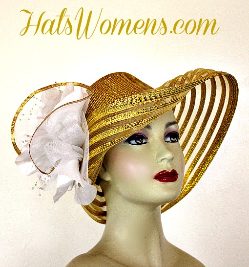 Las Metallic Gold Special Occasion Hats For The Kentucky Derby 2018 Preakness Stakes