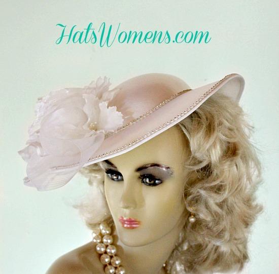 b54fa0ca616 Ladies White Satin Bridal Vintage Style Wedding Designer Hat Orchids ...