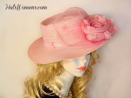 Women S Pastel Pink Tea Party Hats Wedding Bridesmaids Mother Of
