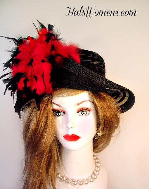 9a0e27114673a Black Red Designer Fashion Woman s Hat