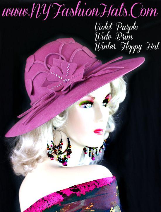 8415335d41b Winter Wool Fashion Hat For Women Jade Green Purple Violet Brown ...