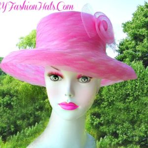 f65dbd91a8 Ladies Pink Kentucky Derby Oaks Hat For Horse Races