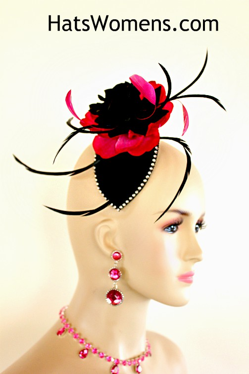 f23ca175f8af7 Ladies Winter Wool Silk Feather Wedding Flower Bridal Fascinator ...